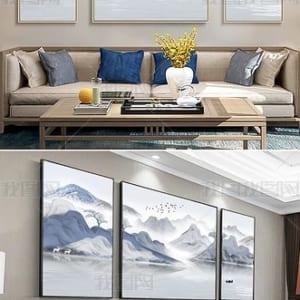 Tranh sơn dầu Phong cảnh nghệ thuật Núi non hùng vĩ 3D
